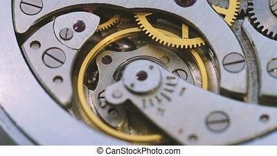 oud, klokken samenstel van bewegende delen