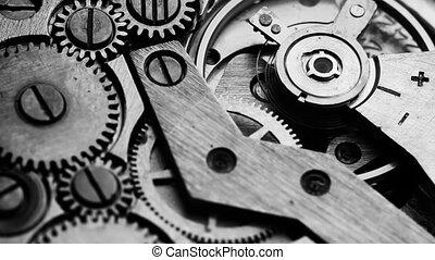 oud, kloktoestel, mechanisme