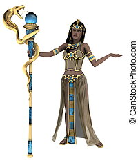 oud, koningin, egyptisch