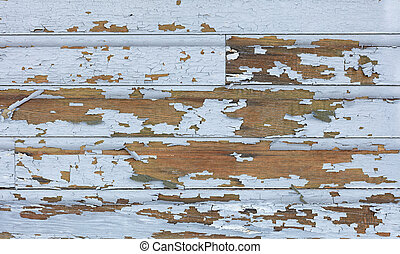 oud, lood, verf , schillen, van, van, hout, verschuifbaar