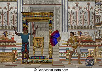 oud, mannen, egyptisch