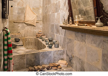 Arabische , badkamer. Granada., badkamer, paleis, alhambra ...