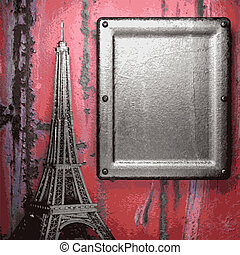 oud, metaal, achtergrond