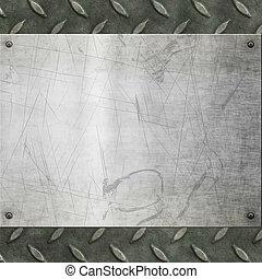 oud, metaal, achtergrond, textuur