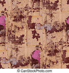 oud, muur, poster, abstract, dekking, seamless, textuur,...