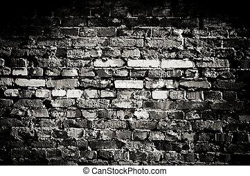 oud, muur