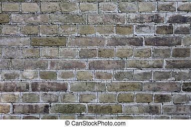 oud, muur, textuur, achtergrond, baksteen, of