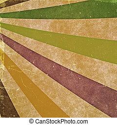 oud, ouderwetse , abstract, achtergronden, textuur, karton, rays.