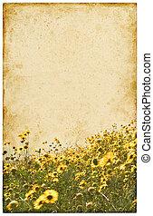 oud, ouderwetse , bloemen