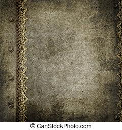 oud, ouderwetse , gedenkboek dek