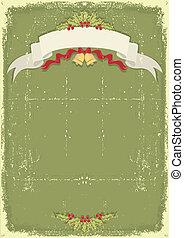 oud, ouderwetse , textuur, het document van kerstmis, tekst, boekrol, kaart, viering