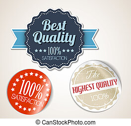 oud, ouderwetse , vector, retro, grunge, stickers, ronde