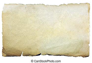 oud, ouderwetse , vrijstaand, textuur, papier, achtergrond, black.