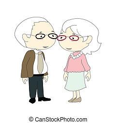 oud, paar