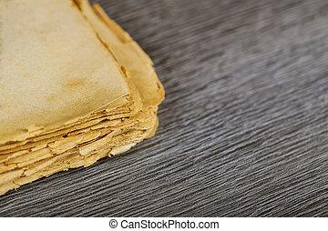 oud, pagina's, hout, achtergrond, leeg boek