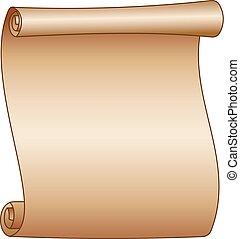 oud, papier, achtergrond, leeg, witte , boekrol