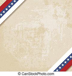 oud, papier, achtergrond, met, gestreepte , linten