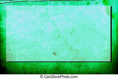 oud, papier, groene