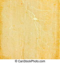 oud, papier, grunge, textuur