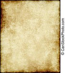 oud, papier, of, perkament