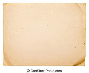 oud, papier, textuur, groenteblik, zijn, gebruikt, als,...