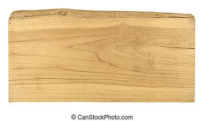 oud, plank, hout, vrijstaand, op wit, achtergrond