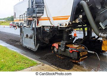 oud, road., asfalt, auto, verwijdert, bestrating, hydrohammer, bijzondere