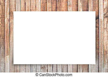 oud, ruimte, houten, tekst, achtergrond., papier, witte