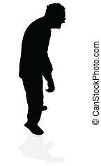 oud, silhouette, man