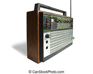oud, sovjet, radio, hoorn