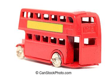 oud stuk speelgoed, londen, bus