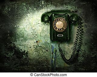 oud, telefoon