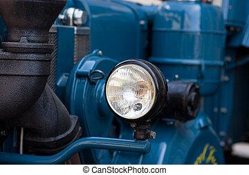 oud, tijdopnemer, tractor