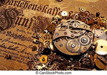 oud, toestellen, bankbiljet