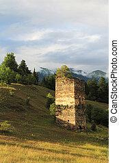 oud, toren