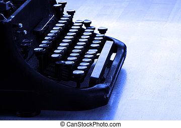 oud, typemachine, brieven, het typen