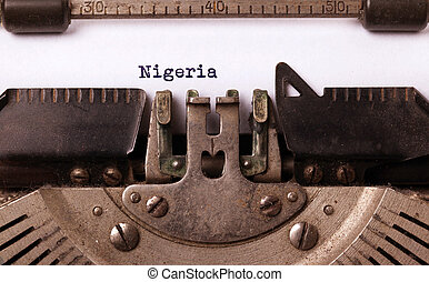 oud, typemachine, -, nigeria