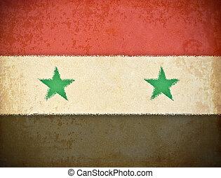 oud, vlag, papier, achtergrond, grunge, syrië