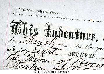 oud, wettelijk, papier