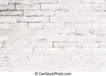 oud, witte baksteen, muur, achtergrond