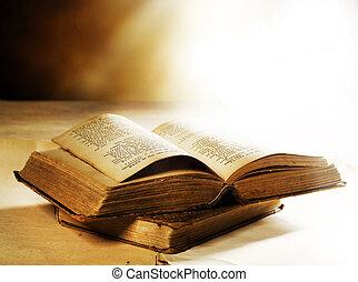 oude boeken, closeup