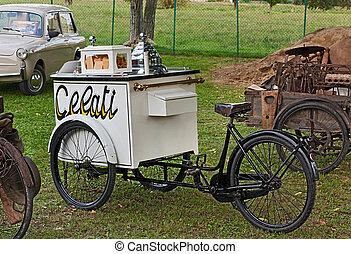 oude fiets, ijs