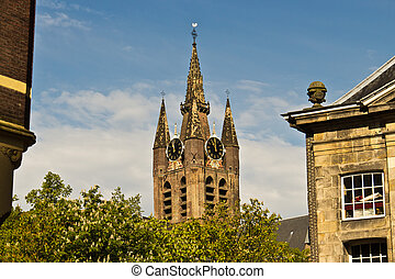 Oude Kerk, the Old Church in Delft, Netherlands