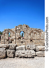 oude ruïnes, bovenkant, tempel