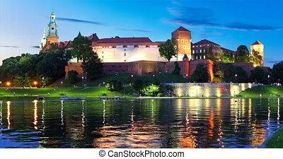 oude stad, architectuur, in, krakow, polen