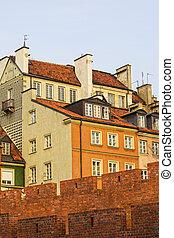 oude stad, in, warschau