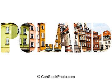 oude stad, in, warschau, poland.