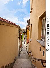 oude stad, straat, warschau, polen