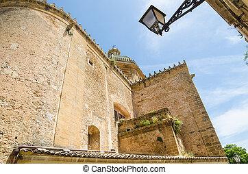 oude stad, van, castelvetrano, sicilië