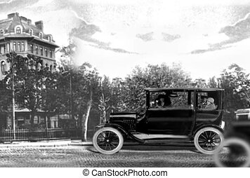 oude tijd, auto
